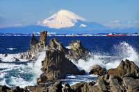 内房からの富士山2019-02-19更新 - 夕陽に魅せられて・・・