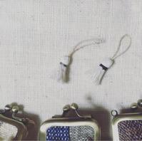 小がま口状況〜 - お手手  ・足踏みミシンと手縫いの布小物屋・
