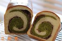 抹茶の渦巻食パン - パン・お菓子教室 「こ む ぎ」