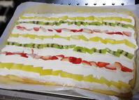 ケーキに入れるフルーツ、特におすすめのものと、ロールケーキのこだわりと、ケーキの具の配置のこだわり - くにまんが日記