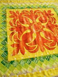 パイナップルのハワイアンキルトTOP - eri-quilt日記3