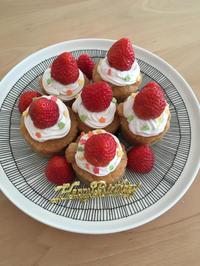 【米粉マフィンでケーキ作り】長女の誕生日でした! - 食日和 ~アレルギーっ子と楽しい毎日~