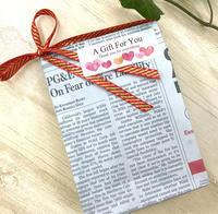 英字新聞プレゼント! - アメリカ輸入のシール♪住所/名前/お好きな文字を印刷してお届け♪アドレスラベルです。