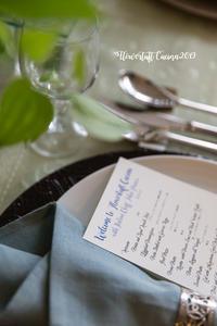イタリアン★グルメフォト・ディナーの部 - 幸せのテーブル*maison flowertuft-flowers&tablesXphoto