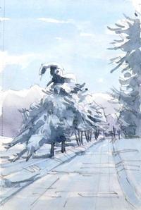 雪の一本道 - ryuuの手習い