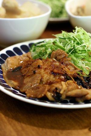 いつも、いつもの夕ご飯・生姜と黒大蒜 -