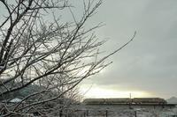 儚い雪 - 今日も丹後鉄道