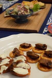 干し柿と牡蠣のスモークと。 - ゆるっとアドラーとモンテッソーリ