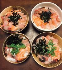 男子の海鮮丼 - たにみち日記*平凡すぎる日々のこと*