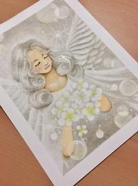 グレー?の天使 - アトリエ絵くぼの創作日誌