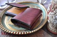イタリアンレザー・プエブロ・コンパクト2つ折り財布とロディアメモ帳カバー - 時を刻む革小物 Many CHOICE~ 使い手と共に生きるタンニン鞣しの革