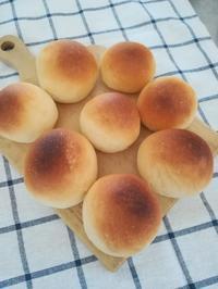 ブレッチェンのレシピでシンプル丸パン - いろんなところに出没中