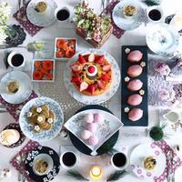 手描き皿とおやつのマリアージュ - nico☆nicoな暮らし~絵付けと花とおやつ