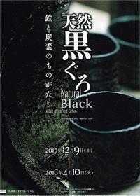 天然黒ぐろ - Art Museum Flyer Collection