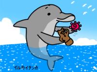 贈り物へなちょこイルカイランカメルマガに登場 - 動物キャラクターのブログ へなちょこSTUDIO