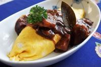 ■昼ご飯【デミオムライス】シチュー残りdeリメイクです♪ - 「料理と趣味の部屋」