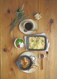 鮭とあさりのグラタン - 陶器通販・益子焼 雑貨手作り陶器のサイトショップ 木のねのブログ