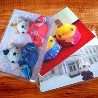 [マリエッタ函館店さん] モコモコくまさん帽子、3月のポストカードと、クラゲのイヤリング、雪の結晶のピアスを納品しました♪ - Smiling * Photo & Handmade 2 動物のあみぐるみ・レジンアクセサリー・風景写真のポストカード