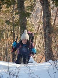 お初です!冬の雷倉 - 山にでかける日