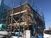「青葉台の家」上棟 - HAN環境・建築設計事務所