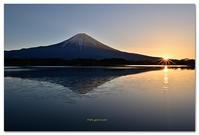 田貫湖の朝景逆さ富士 - toru photo box
