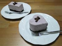 バレンタインに♡マキベリーのレアチーズケーキ - candy&sarry&・・・2