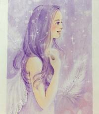 紫色の天使描きました。けど… - デザインのアトリエ絵くぼ