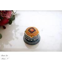 蓋物▫︎陶クラシック調カラードレスイメージのインテリア小物入れ - BEAN ART  |  Mami Tsukamoto