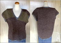 ☆婦人用ベスト - ひまわり編み物