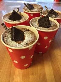 バレンタイン 生チョコカップシフォンケーキ - 調布の小さな手作りお菓子教室 アトリエタルトタタン