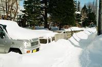 冬期間走らぬ車と待機するレスキュー車 - 照片画廊