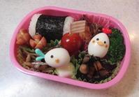 幼稚園弁当。うずら玉子のニワトリ&あひる - ARTY NOEL