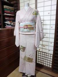 個性的でかわいいピンクのお着物。 - 京都嵐山 着物レンタル&着付け「遊月」