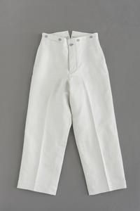 HS EQUIPMENT C/L Wide Stripe Work Pants (White) - un.regard.moderne