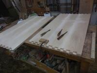 デスクの組手加工 - 手作り家具工房の記録