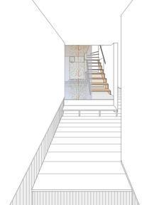 玄関から小上がりのリビングへの眺め - kukka  kukka
