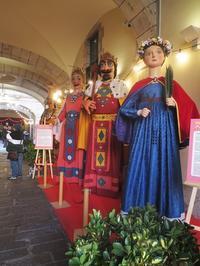 聖エウラリアのお祭りのヒガンテ人形展示 - gyuのバルセロナ便り  Letter from Barcelona