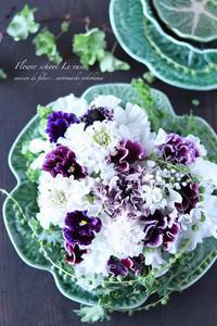ハートのクッション♡ - Le vase*  diary 横浜元町の花教室