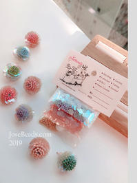 Crochet flower ball - JOSEBEADS jewelry kits