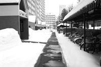大寒波の日のロードヒーティングと除雪機作業 - 照片画廊