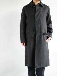 OLDMAN'S TAILORGLENCHECK SOUTIEN COLLOR COAT / GRAY - 『Bumpkins putting on airs』
