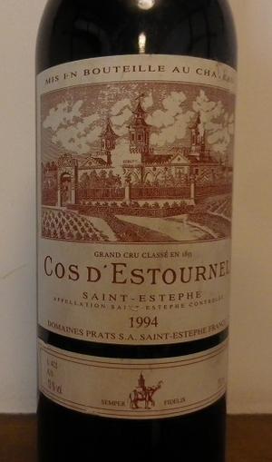 CH.COS D`ESTOURNEL 1994 SAINT-ESTEPHE -
