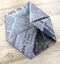 折り紙はいかがですか?英字新聞活用術 - アメリカ輸入のシール♪住所/名前/お好きな文字を印刷してお届け♪アドレスラベルです。