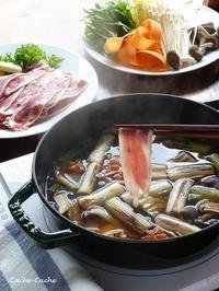 ストウブで鴨鍋。シメはやっぱり蕎麦♪ - Cache-Cache+