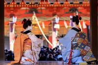 祇園さんの節分祭・舞踊奉納と豆まき(先斗町もみ香さん、市沙登さん) - 花景色-K.W.C. PhotoBlog
