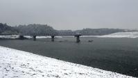雪化粧の東金ダム - 東金、折々の風景
