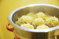 晩御飯〜もちもち蒸し米のエビ入り蒸し団子〜 - 料理教室 あきさんち