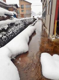 自然流水による消雪力は凄い! - 浦佐地域づくり協議会のブログ