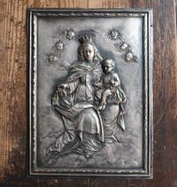 カルメル山の聖母子 金属レリーフ /G046 - Glicinia 古道具店