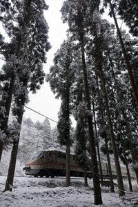 積雪10cm - 今日も丹後鉄道